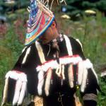Alutiiq dancer during the biennial