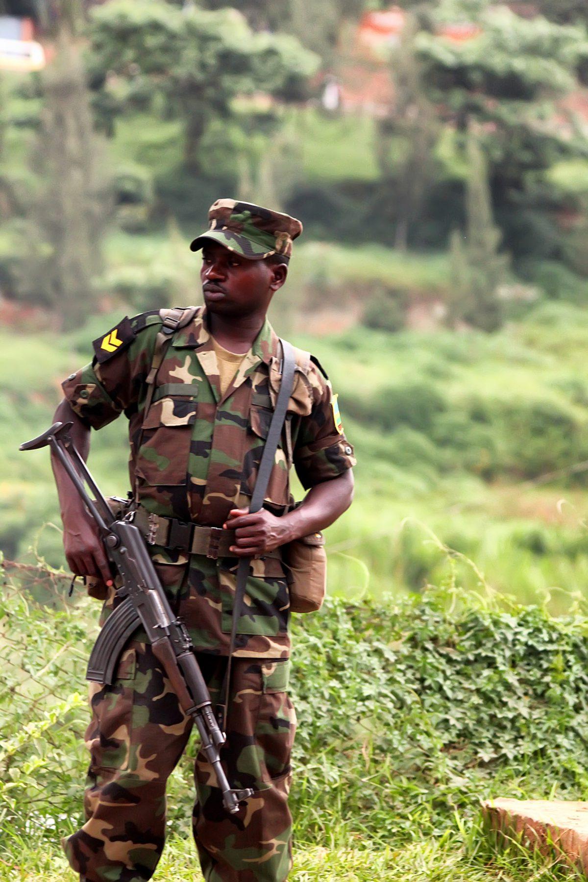 Soldat im Kongo