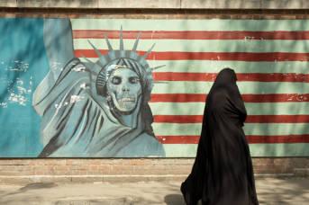 Außenmauern der Ex-US-Botschaft in Teheran
