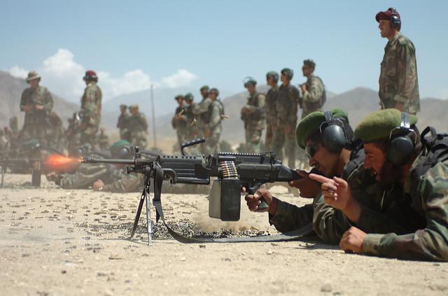 Afghanische Soldaten in der Ausbildung