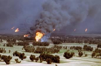 Brennende Oelquellen Kuwait 1991