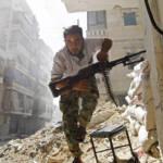 Syrian Rebel Ein Soldat der Freien Syrischen Armee im zerstörten Aleppo. | Bild (Ausschnitt): © a.anis [CC BY-ND 2.0] - Flickr