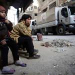 Die AfD-Berichte verharmlosen die Lage der Zivilbevölkerung in den Kampfzonen. | Bild (Ausschnitt): © Bassam Khabieh / Reuters (Mirades ARA) [CC BY 2.0] - Flickr