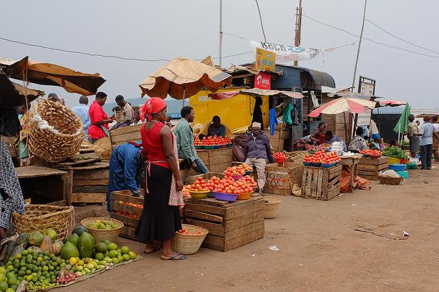 Ein afrikanischer Markt