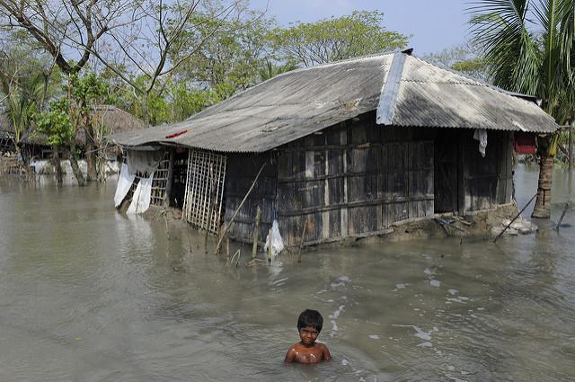 Bangladesch ist Opfer des Klimawandels. Große Teile des Landes werden überschwemmt.