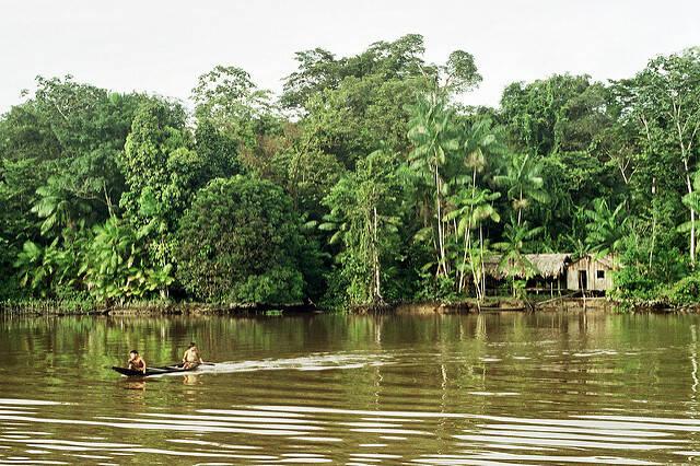 Amazonas Der Amazonas wird für den Bau von Ölplattformen abgeholzt |  Bild: © Francisco Chavez [CC BY 2.0]  - flickr