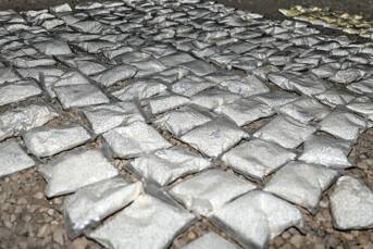 127 beschlagnahmte Captagon-Säcke von ISIL - 31. Mai 2018 127 beschlagnahmte Captagon-Säcke von ISIL - 31. Mai 2018 |  Bild: © Staff Sgt. Christopher Brown [public domain]  - Wikimedia Commons