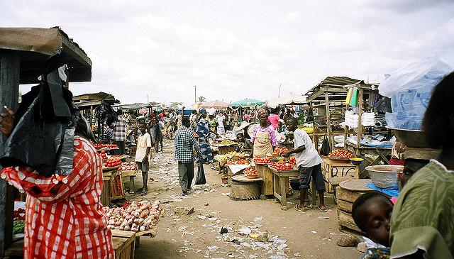 Ghana Markt Tomaten