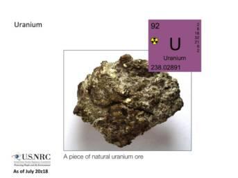 Natürliches Uran Natürliches Uran    Bild: © Nuclear Regulatory Commission [CC BY 2.0]  - Wikimedia Commons